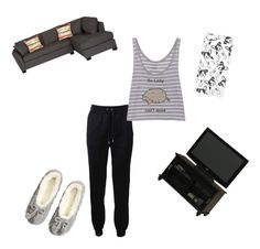 """So lazy, can't move, don't care"" by redhamster ❤ liked on Polyvore"