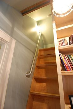 Simple wall railing that was used in a modern Children's Sleeping Loft
