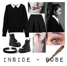 """""""INSIDE"""" by youngjaeouo on Polyvore featuring Essentiel, Dr. Martens, T By Alexander Wang, Barbed and Dorothy Perkins"""
