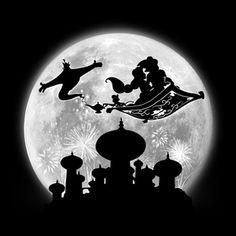 Full Moon over Agrabah - Trend Disney Stuff 2019 Cute Disney, Disney Art, Disney Pixar, Disney Drawings, Art Drawings, Jasmine E Aladdin, Deco Disney, Disney Paintings, Bagdad