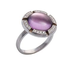 (18JD) 18ct White Gold Amethyst Chaumet Ring n\Class one Croisiere ring, Chaumet. France. Reference number 081157-053. Individual number 1050126. A… / MAD on Collections - Browse and find over 10,000 categories of collectables from around the world - antiques, stamps, coins, memorabilia, art, bottles, jewellery, furniture, medals, toys and more at madoncollections.com. Free to view - Free to Register - Visit today. #Jewelry #Rings #MADonCollections #MADonC