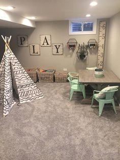 Farmhouse Table -Kids Farmhouse Table - 42 Modern Kids Playroom With Genius Storage Ideas Playroom Design, Playroom Decor, Bedroom Decor, Kid Playroom, Playroom Paint Colors, Playroom Seating, Playroom Organization, Baby Bedroom, Dining Room Playroom Combo