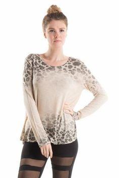 Animal Print Knit Tunic