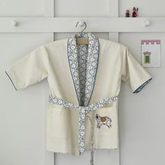 Alma Hand Appliqued Reversible Dressing Gown