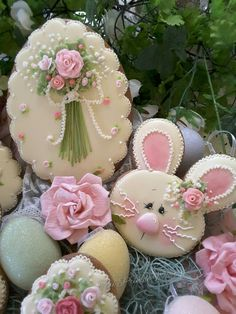 Gingerbread easter egg and bunny