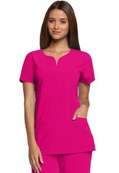 Grey's Anatomy Signature Women's 2121 Two Pocket Notch Yoke Neck Scrub Top Stylish Scrubs, Greys Anatomy Scrubs, Medical Scrubs, Dental Scrubs, Nurse Scrubs, Medical Uniforms, 4 Way Stretch Fabric, Scrub Tops, Bahama Blue