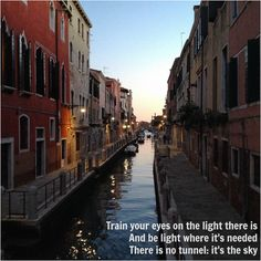 "A canal in Venice at sunset inspired my poem ""Light"""