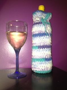 Handmade Crochet Wine Bottle Cover by CreativeDesignsByMel on Etsy