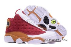 "Air Jordan 13 Retro Premio ""BIN 23 Team Red Desert Clay-White, The Air Jordan 13 first introduced the hologram to the Jordan Brand models. The Air Jordan 13 Retro Premio are one of the more limited models released. They feature a Red suede base with Jordan 13 Shoes, Nike Kd Shoes, Air Jordan Sneakers, Michael Jordan Shoes, Nike Free Shoes, Sneakers For Sale, Nike Shoes Outlet, Best Sneakers, Sneakers Fashion"