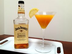 Jack Daniel's Tennessee Honey Martini  (Honey JD is great for cooking, just in case you didn't already know that!)