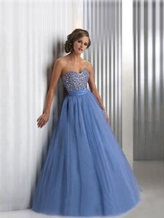 Wholesale Stunning Organza A-line Sweetheart Sleeveless Floor-length Evening / Prom / Homecoming / Sweet 16 / Quinceanera Dress $106.99