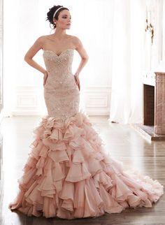 Tendencias: vestidos de novia en palo de rosa