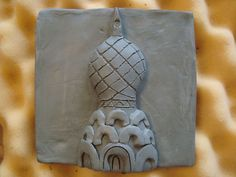 Russian Architecture clay slab relief