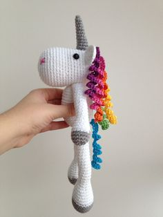 Crochet For Beginners Unicorn Amigurumi Crochet via Etsy 25 € Patterns for 4 € by sharene Crochet Amigurumi, Amigurumi Patterns, Crochet Dolls, Knitting Patterns, Crochet Unicorn Pattern, Cute Crochet, Crochet Crafts, Yarn Crafts, Diy Crafts