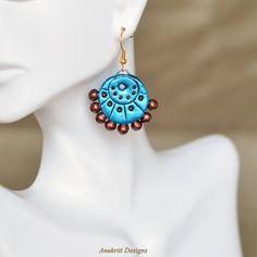 Jhumka  Indian jewelry  Terracotta jewelry  by AnukritiDesigns