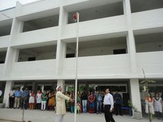 flag hoisting by our managing trustee sir