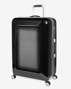 Large herringbone suitcase - Black   Bags   Ted Baker UK