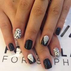 Etch a Sketch & Chevron by @Raqstarnails at @Tracy Stewart Stewart Lane @Sephora event using the new @FormulaX polish