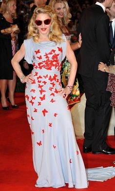 Madonna Looks Stunning In A Vionnet Dress At The Premiere Of Her Movie W.E In Venice, 2011