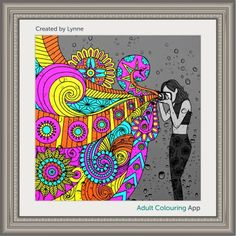 #adultcoloring #adultcoloringbook #adultcoloringbookapp #camera #lens #photography #hippie #hippiepics #hippiephoto #dailydesign