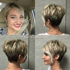 Casual, Everyday Short Hairstyles with Side Angled Bangs …