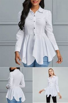 Fashion Wear, Fashion Dresses, Dress Shirts For Women, Clothes For Women, Dress Over Pants, Pakistani Fashion Casual, Kurti Designs Party Wear, Blouse Designs, Single Breasted