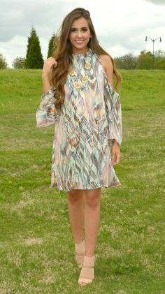love this pastel watercolor off-shoulder dress!!