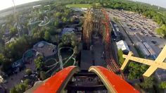 Goliath front seat on-ride HD POV Six Flags Great America