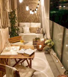 Small Patio Ideas - One thing that many men and women love to have is a wonderful apartment balcony design. You might think that you will need a large space for trying a balcony design, but this is not completely required. Patio Decor, Rustic House, Room Decor, Decor, Apartment Decor, Small Balcony Decor, Home, Winter Balcony, Home Decor