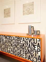 Cool sideboard made from signs!  Brett Coelho