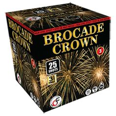 consumer fireworks | 25 rising multi-colour comets to silver brocade with 3-shot finale ...