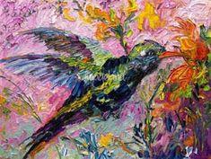 """Hummingbird Oil Painting by Ginette Callaway"" by Ginette Callaway Framed Wall Art, Wall Art Prints, Fine Art Prints, Framed Prints, Canvas Prints, Hummingbird Art, Folk Art, Clip Art, Drawings"