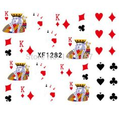 $0.39 (Buy here: https://alitems.com/g/1e8d114494ebda23ff8b16525dc3e8/?i=5&ulp=https%3A%2F%2Fwww.aliexpress.com%2Fitem%2FWater-Transfer-Nail-Art-Stickers-Decal-Cards-King-Poker-Black-Red-Heart-Spades-Diamonds-Design-Foil%2F2050862465.html ) Water Transfer Nail Art Sticker Decal Cards King Poker Black Red Heart Spades Diamonds Design for just $0.39