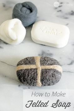Make Your Own Felted Soap (Or Self-Soaping Scrubbie!)