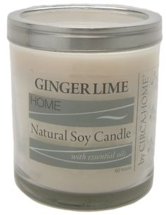 Ginger Lime Madison Jar Soy Candle | green 3 | #USAMade #NaturalSkinCare #AllNatural