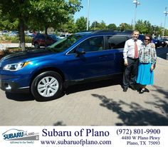 https://flic.kr/p/ytU3By | Congratulations Adolfo/Irma on your #Subaru #Outback from Daniel  Guerrero at Subaru of Plano! | deliverymaxx.com/DealerReviews.aspx?DealerCode=K252