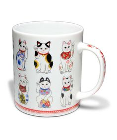 Take a look at this Antique Cat Mug by Miya Company on #zulily today!