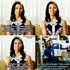 Angela and Hodgins Tv Shows Funny, Best Tv Shows, Best Shows Ever, Movies And Tv Shows, Favorite Tv Shows, Booth And Bones, Booth And Brennan, Bones Angela, Hodgins And Angela