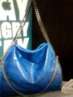 Leather Handbag/ Blue