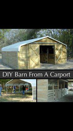 DIY Barn from a carport