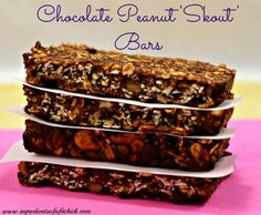 4 Ingredient Chocolate Peanut Skout Bars (Vegan, Refined Sugar Free, Dairy Free, GF, Egg Free)
