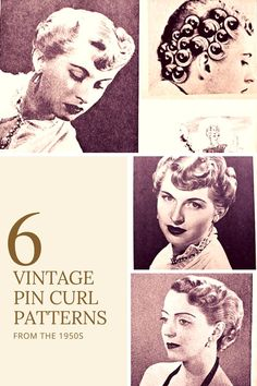 6 Pin Curl Setting and Styling Patterns from the / Va-Voom Vintage Winter Beauty Tips, Daily Beauty Tips, Beauty Tips For Hair, Natural Beauty Tips, Beauty Hacks, Rockabilly Hair Tutorials, Rockabilly Makeup, Rockabilly Fashion, Rockabilly Style