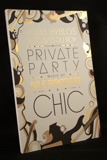 Invitation Byblos avec dorure à chaud or. Création by You Bold (www.youbold.fr)