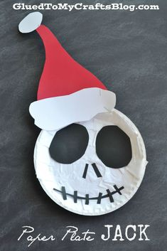 Scare up some good Halloween fun with our simple The Nightmare Before Christmas - Paper Plate Jack Kid Craft tutorial today! Halloween Arts And Crafts, Halloween Crafts For Toddlers, Christmas Activities For Kids, Winter Crafts For Kids, Preschool Christmas, Toddler Christmas, Halloween Activities, Toddler Crafts, Holiday Crafts