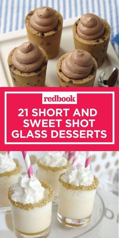 Desserts To Make With Heavy Whipping Cream + Desserts To Make Keto past Mini Desserts For A Large Crowd with Where To Buy Mini Desserts Near Me down Dessert In Spanish Language Mini Desserts, Shot Glass Desserts, Mini Dessert Cups, Finger Desserts, Mini Dessert Recipes, Single Serve Desserts, Small Desserts, Individual Desserts, Party Finger Foods