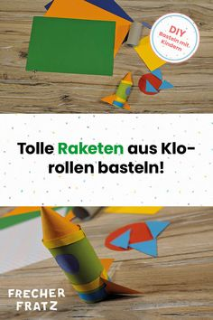 In nur wenigen Schritten könnt ihr gemeinsam mit euren Kindern viele bunte Raketen basteln und jede Menge Spaß dabei haben. Klopapierrollen eignen sich perfekt zum Basteln und Spielen. Findet jetzt heraus, wie auch ihr eure eigenen Raketen herstellen könnt! Blog, Ursula, Games, Kids, Rockets, Unique Gifts, Space, Young Children, Boys