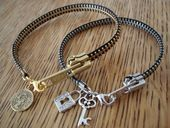 zipper braclets--with instructions from cut out and keep