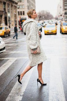 Gliding in heels