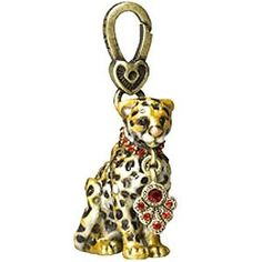 Jay Strongwater Gifts : Leopard Charm... WILD ANIMAL... everyone needs a little Leopard in their homes or so Architectural Digest says... the one style that in moderation never will go out of style, so why not on your wrist or around your neck?? It reminds me of my sisters Bengal cats which look like little leopards....