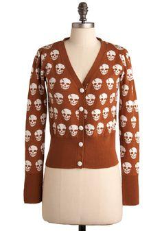 Dia de los Muertos Cardigan | Mod Retro Vintage Sweaters | ModCloth.com